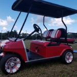 Custom Build Golf Cart Red