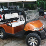 custom ez-go cart orange